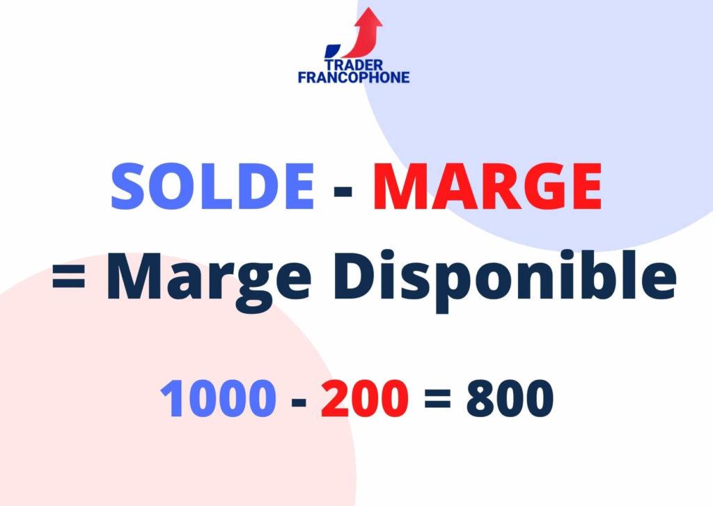 La marge disponible est égale au solde de votre compte moins la marge déjà engagée.