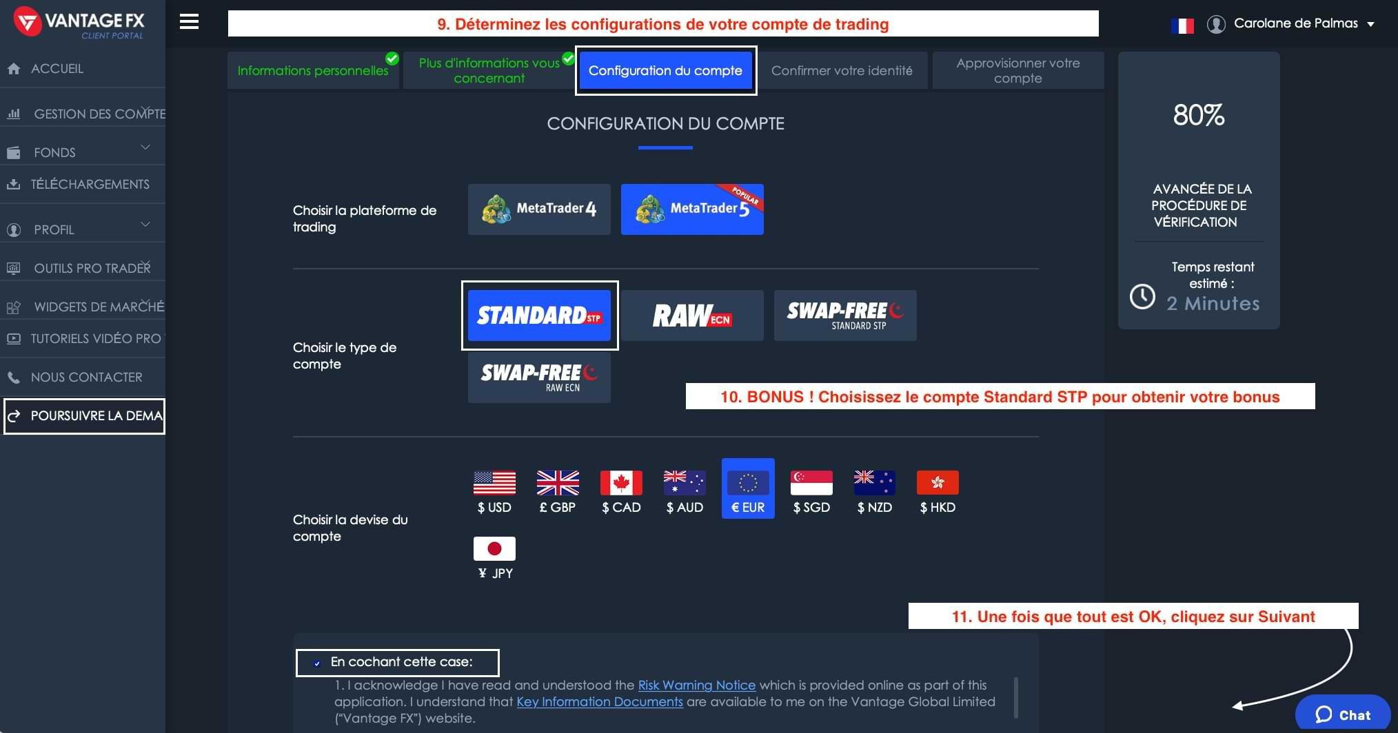 Ouverture de Compte Vantage FX_Choix du Type de Compte Halal