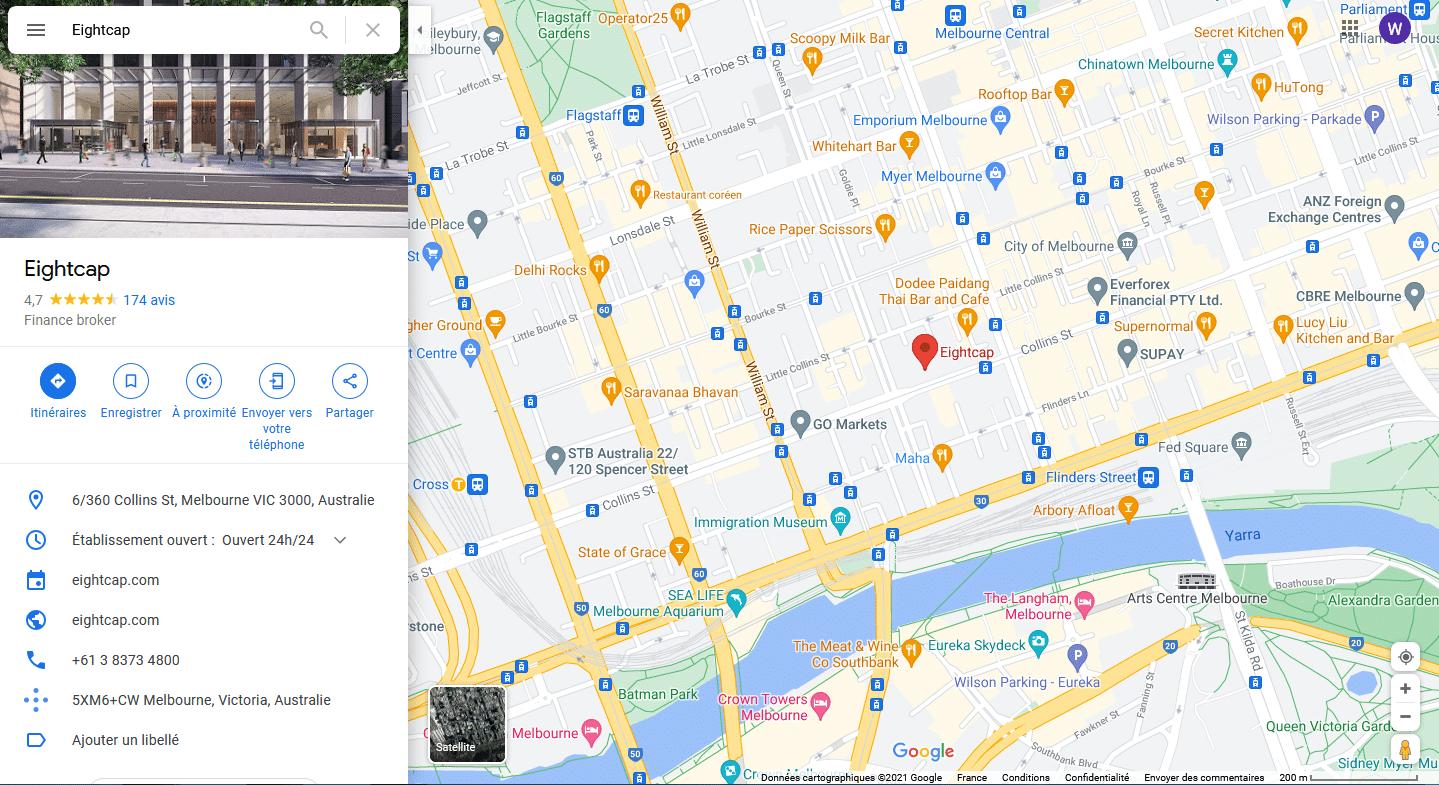 Localisaation Eightcap