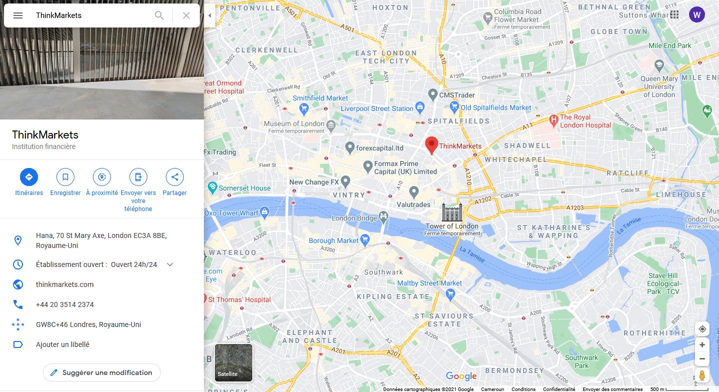 ThinkMarkets Localisation