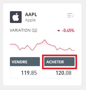 Acheter l'Action Apple Directement sur eToro