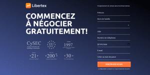 Ouverture de compte Libertex
