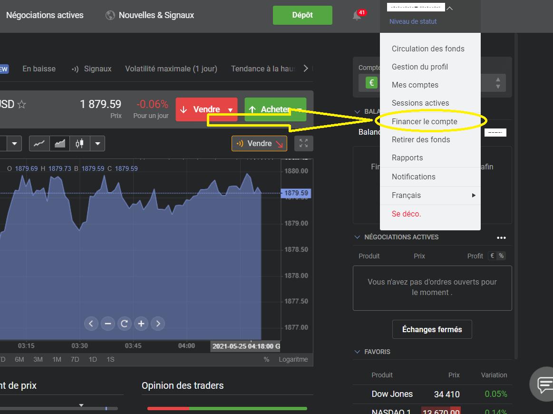 Libertex_financer le compte