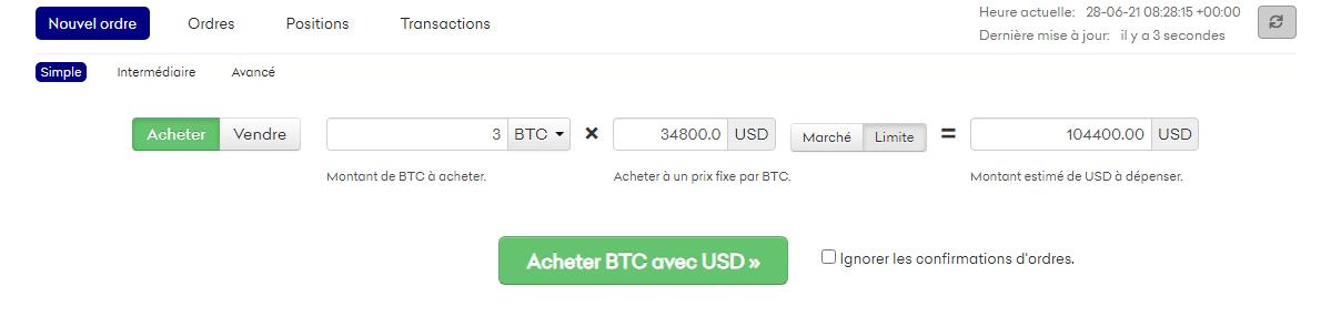 Achat Bitcoin Kraken